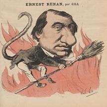Caricature d'Ernest Renan par Gil