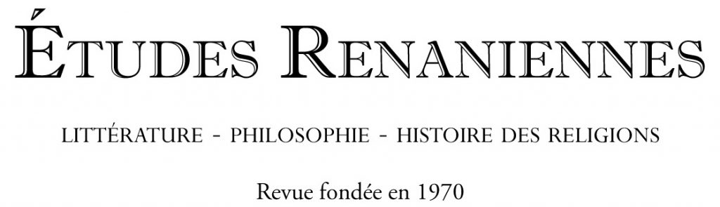 Etudes Renaniennes