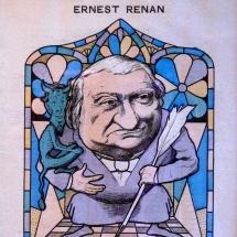 Caricature d'Ernest Renan par Emile Cohl (1885)